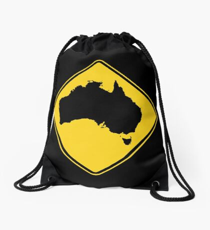Caution Australia Drawstring Bag