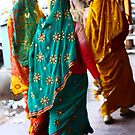 Colourful Sari's - Jaipur, India by fionapine
