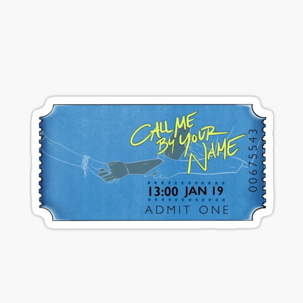 Timothée Chalamet Call me by your name Sticker