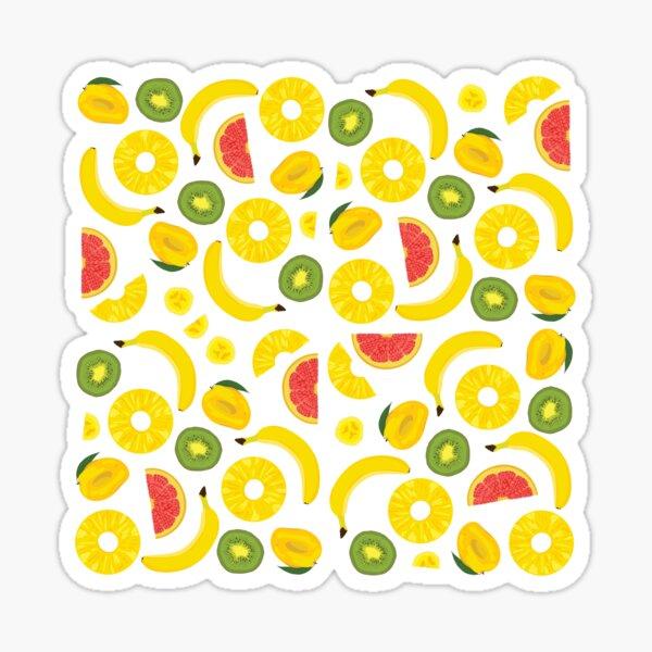 Exotic fruit pattern Sticker