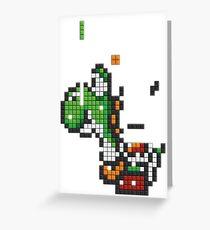 Yoshi Tetris Greeting Card