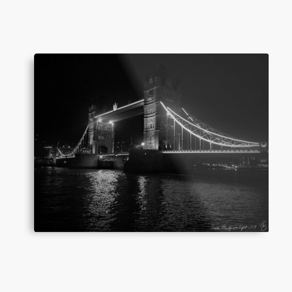 Tower Bridge at Night - London Metal Print