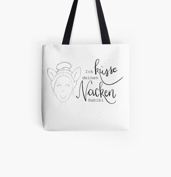Office Talk - I kiss your neck Habibi All Over Print Tote Bag
