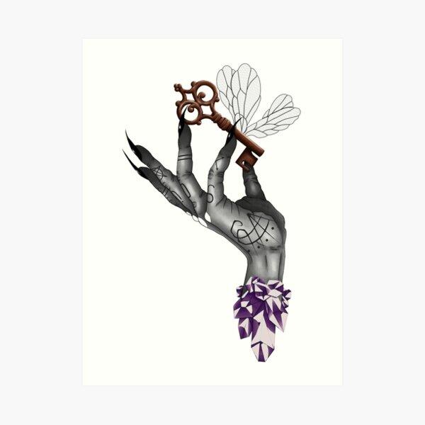 Crystal Witch Hand Lámina artística