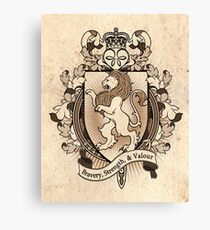 Lion Coat Of Arms Heraldry Canvas Print