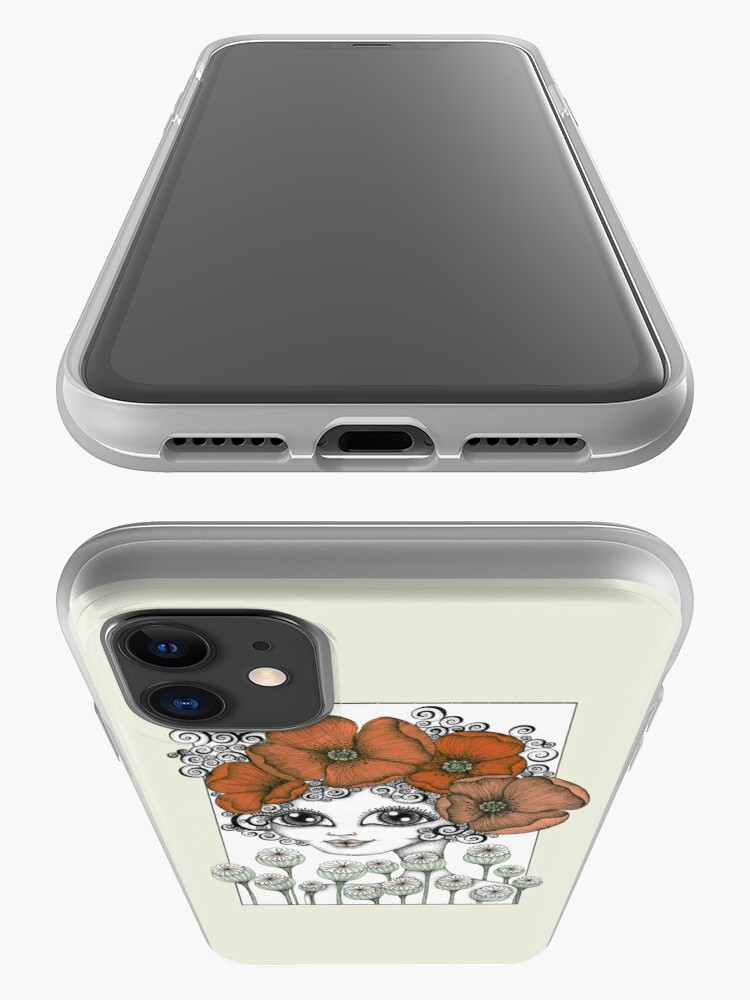 Alternate view of Charming Poppy iPhone Case & Cover
