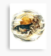 Harvest Moon Witch Canvas Print