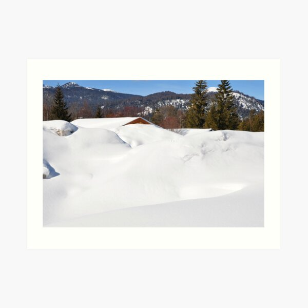 """Germany, Alps, """"Buried"""" in the Snow :) Art Print"""