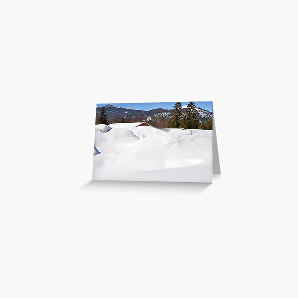 """Germany, Alps, """"Buried"""" in the Snow :) Greeting Card"""
