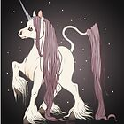 Long Haired Purple Unicorn by Heather Hitchman