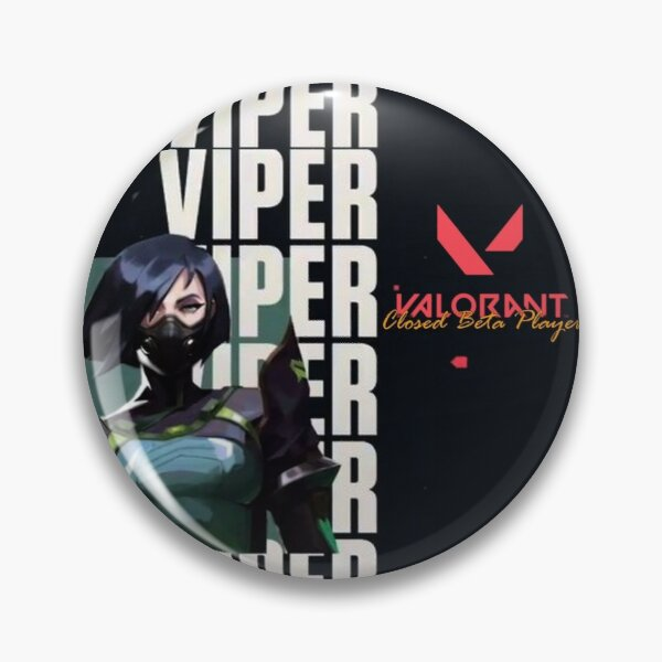 Valorant 2020 Beta Player - Agent Viper - Artwork Pin