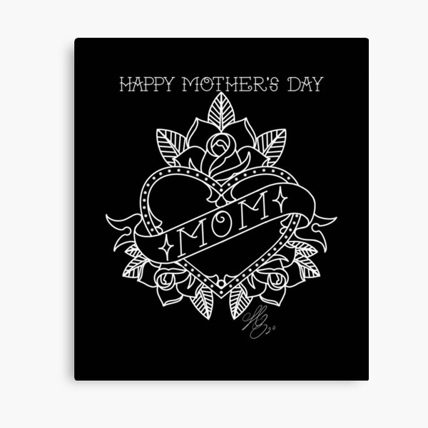 Tattoo Happy Mother's Day Canvas Print