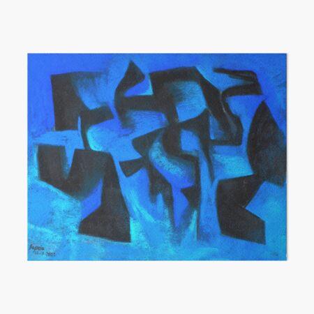 Tiefblau figuren Galeriedruck