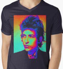 Bob Dylan Psychedelic Men's V-Neck T-Shirt