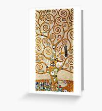 Gustav Klimt Golden Tree of Life with Bird Greeting Card