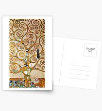 Gustav Klimt Golden Tree of Life with Bird Postcards