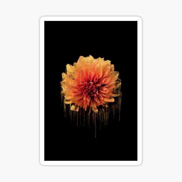 Dripping Flower Art Sticker