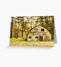 Mirrormont Stables Fades Away Greeting Card