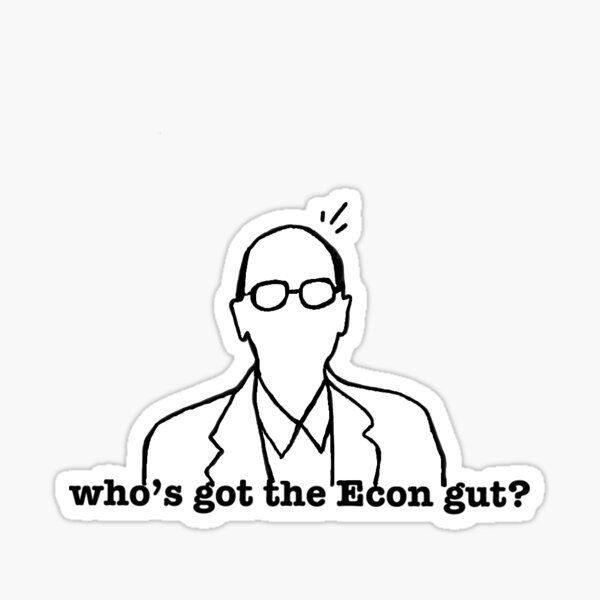 Who's got the Econ gut? Sticker