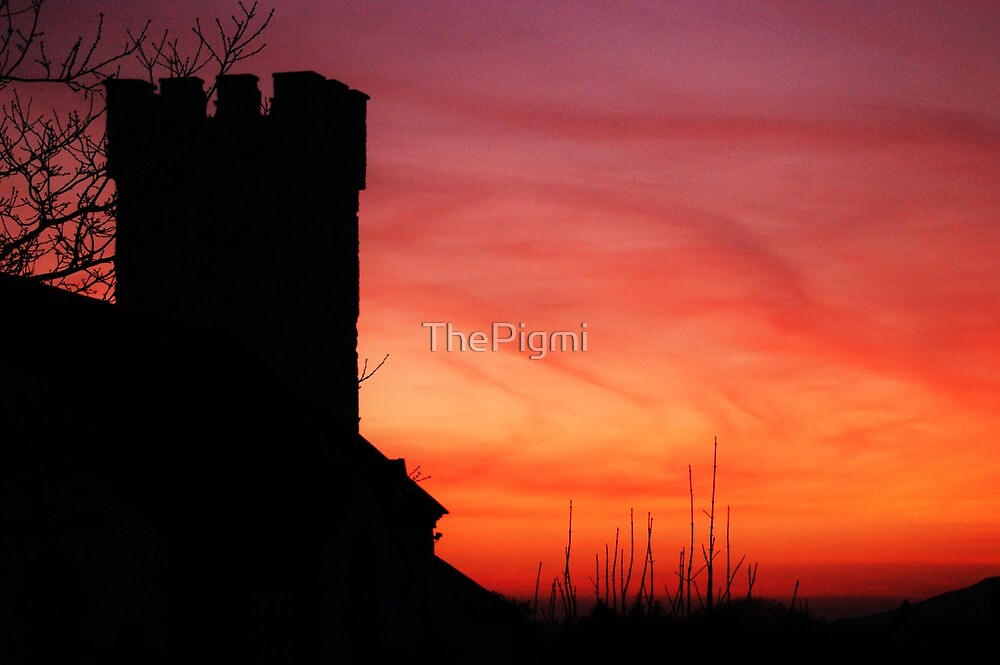 Pennard Church Sunset  by ThePigmi