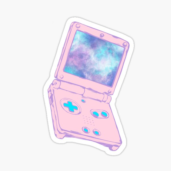 Retro Pastel Aesthetic Handheld Game Advance SP Galaxy Sticker