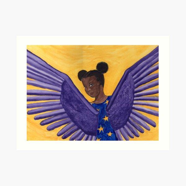 Angels Got My Back Art Print