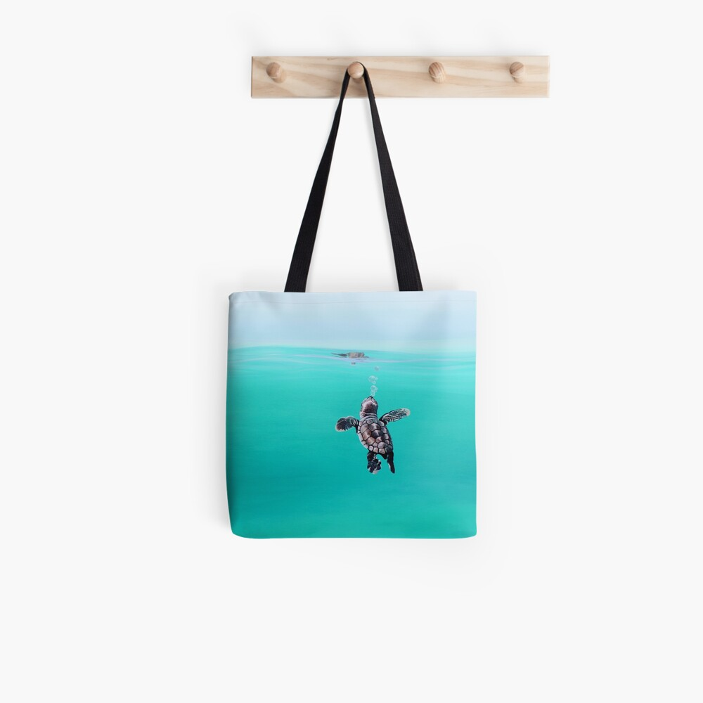 Baby Turtle Bubbles Tote Bag
