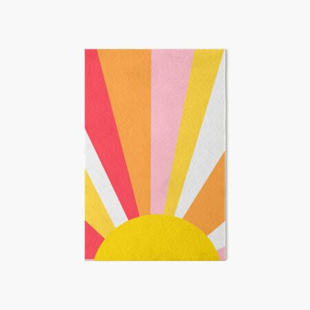 Sun Rays Art Board Print