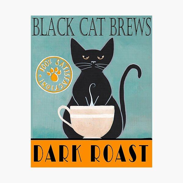 Black Cat Brews Photographic Print