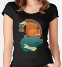 Cliff Edge Women's Fitted Scoop T-Shirt