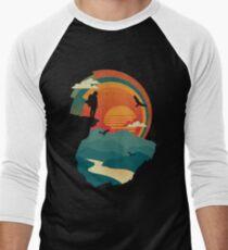 Camiseta ¾ bicolor para hombre Borde del acantilado