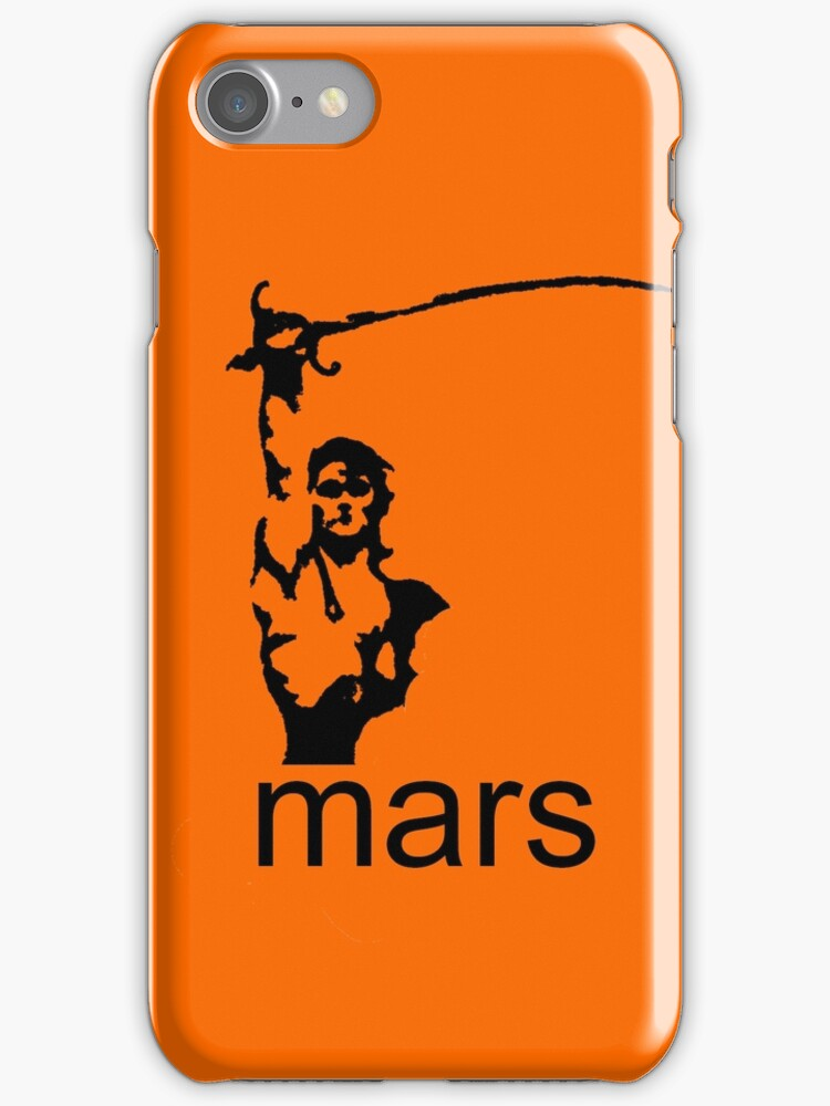 John Carter of Mars iphone orange by Margaret Bryant