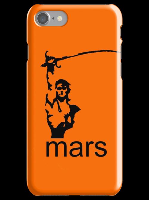 John Carter of Mars iphone orange by Margaret Bryant