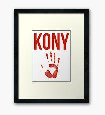 Kony Poster - Kony 2012 - Joseph Kony Framed Print