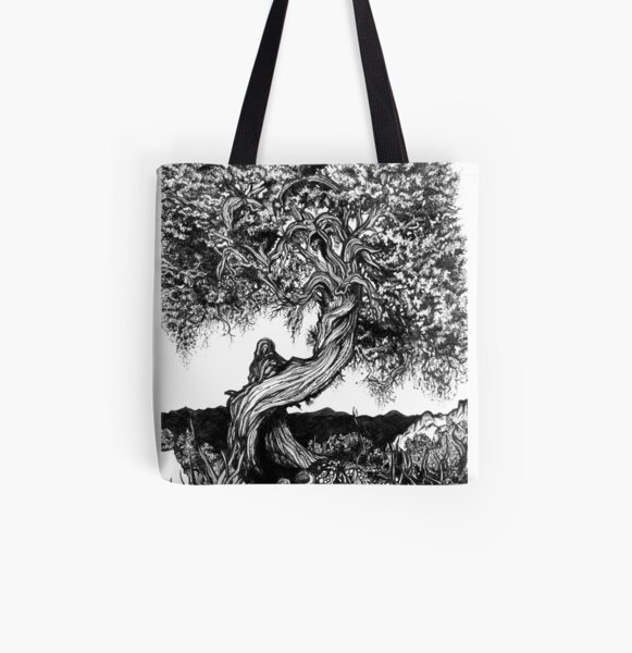 Twisted Juniper All Over Print Tote Bag