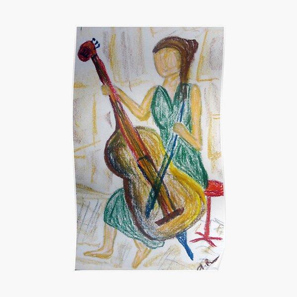 Barefoot Cello Busker Poster