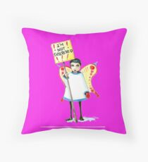 I'm not interested Throw Pillow