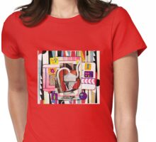 Random Abstract Womens Fitted T-Shirt