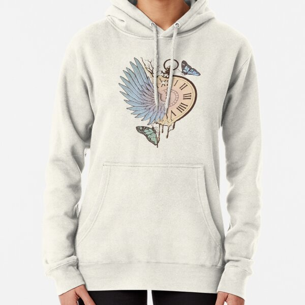 Le Temps Passe Vite (Time Flies) Pullover Hoodie
