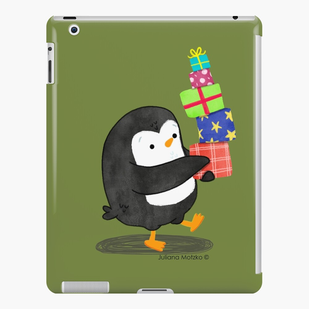 Penguin with some Gifts iPad Case & Skin