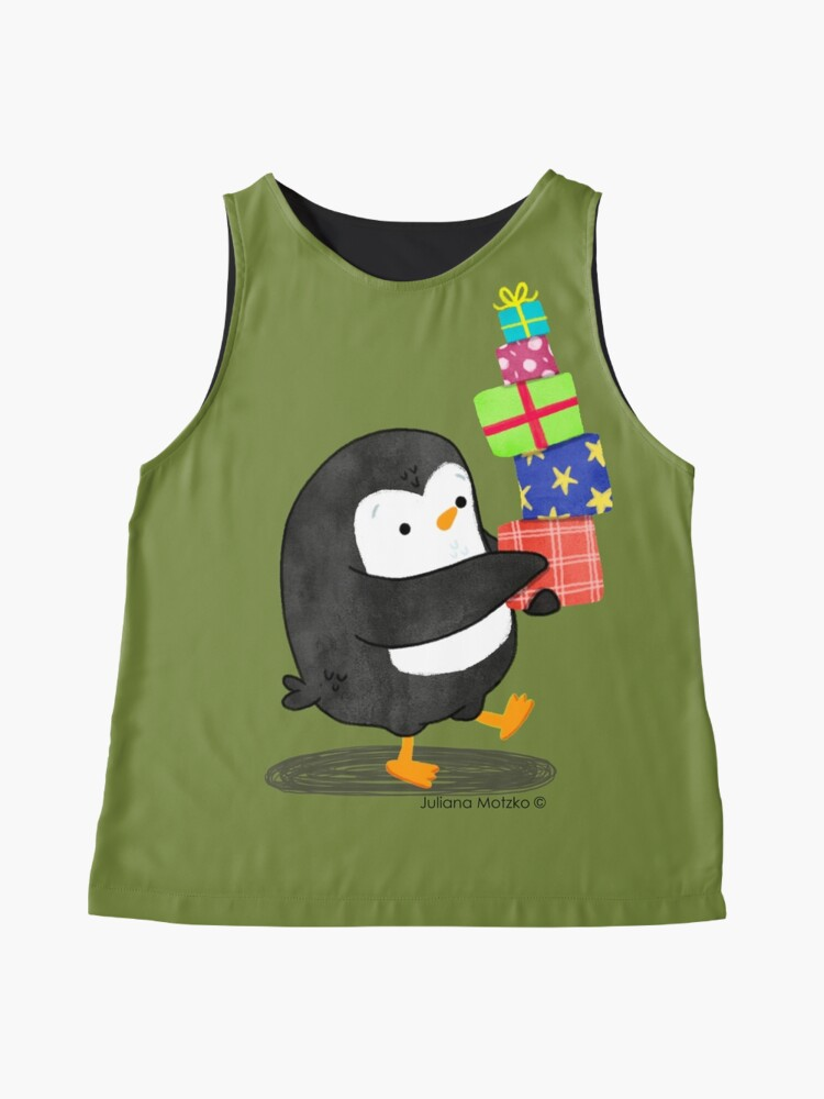 Alternate view of Penguin with some Gifts Sleeveless Top