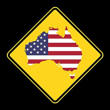 Caution Australia (Don't become America) by rupertrussell