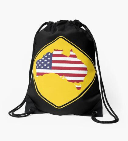 Caution Australia (Don't become America) Drawstring Bag