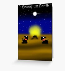 Scottie Dogs 'Peace On Earth' Greeting Card