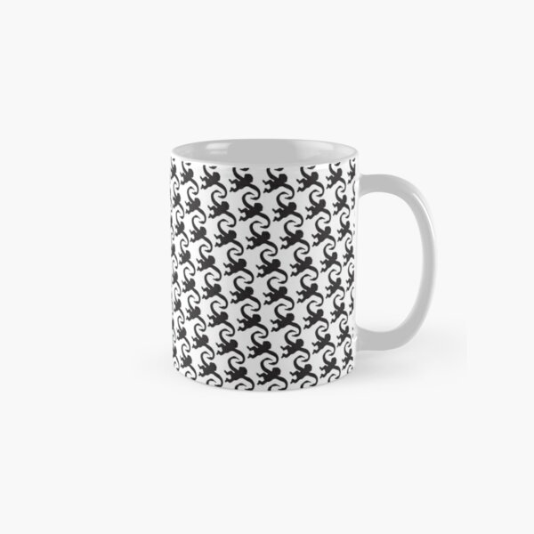 Retro Swinging Monkeys pattern - black Classic Mug