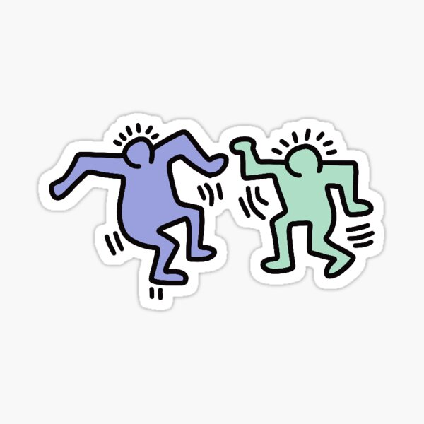 Keith haring dance party Sticker