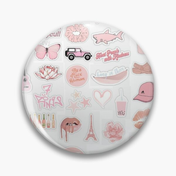 Peach Pink Sticker Pack Pin