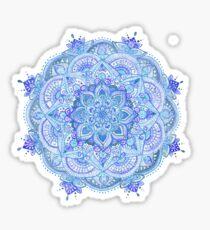 Watercolour mandala blue Sticker