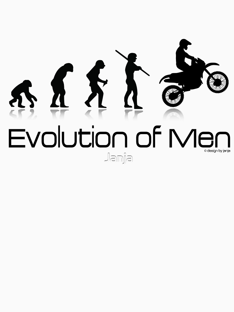 Evolution of Men- Off Road Motorcycle  | Unisex T-Shirt