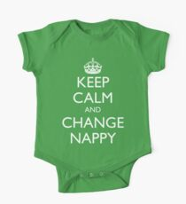 KEEP CALM AND CHANGE NAPPY One Piece - Short Sleeve